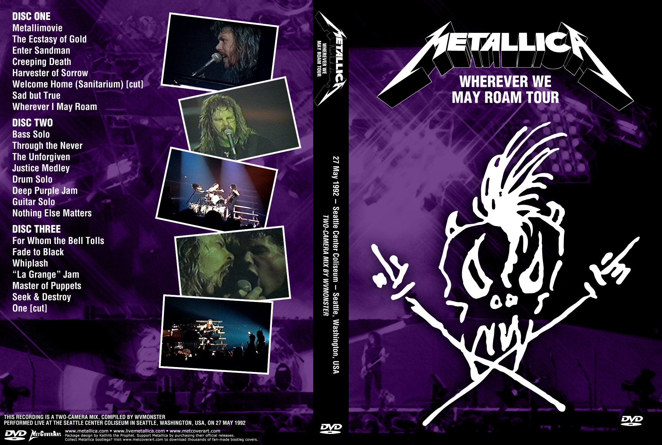 metallica whiplash live seattle 1989